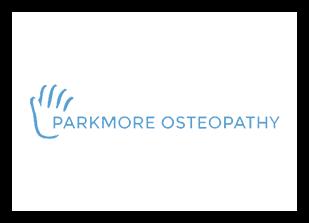 Parkmore Osteopathy Logo - White